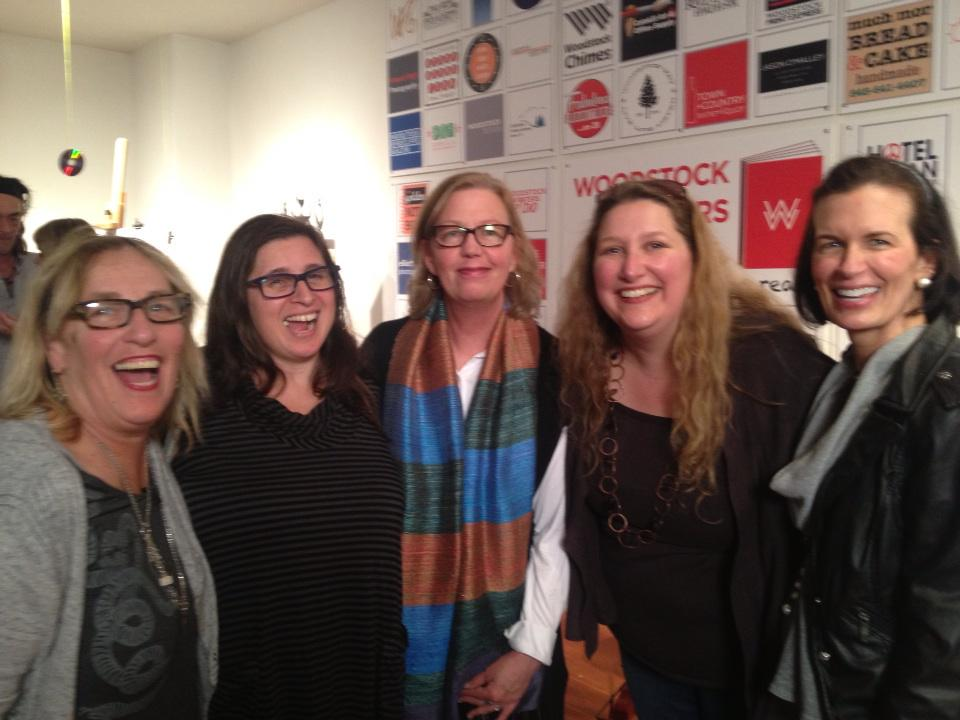 Woodstock Writers Festival Friends with Executive Director Martha Frankel (far left)