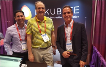 Inkubate CEO Jay Gale with David Bass (left) and Donald Seitz (right) at BEA